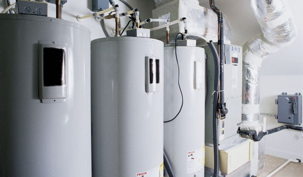 water heater in a big complex building
